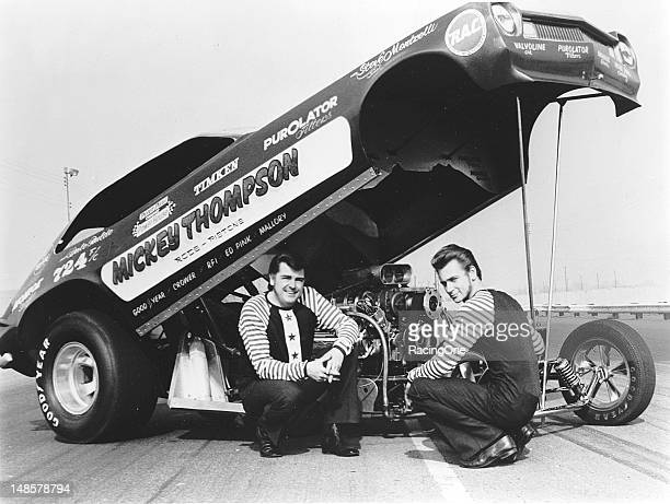 """Dale Pulde was tapped to drive Mickey Thompson's """"titanium"""" Ford Pinto in NHRA/IHRA Funny Car competition The car weighed just under 1700 lbs without..."""