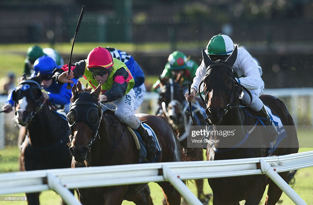 Dale Smith riding Duke of Brunswick wins Race 5 during Melbourne Racing at Moonee Valley Racecourse on June 6, 2015 in Melbourne, Australia.