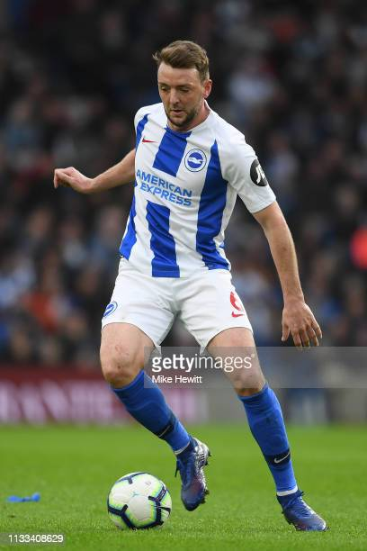 Dale Stephens of Brighton Hove Albion during the Premier League match between Brighton Hove Albion and Huddersfield Town at American Express...