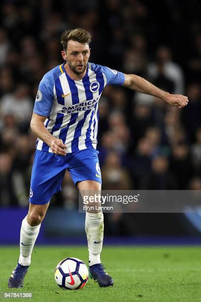 Dale Stephens of Brighton Hove Albion in action during the Premier League match between Brighton and Hove Albion and Tottenham Hotspur at Amex...