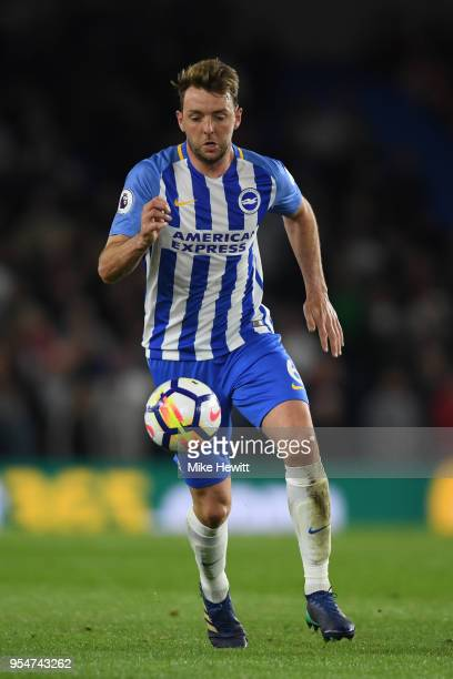 Dale Stephens of Brighton Hove Albion in action during the Premier League match between Brighton and Hove Albion and Manchester United at Amex...