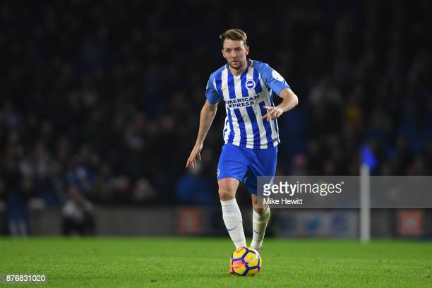 Dale Stephens of Brighton in action during the Premier League match between Brighton and Hove Albion and Stoke City at Amex Stadium on November 20...