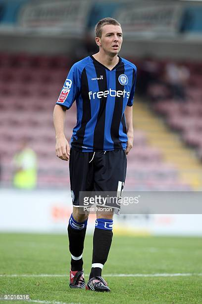 Dale Stephens of Rochdale in action during the Coca Cola League Two Match between Northampton Town and Rochdale at Sixfields Stadium on September 19...