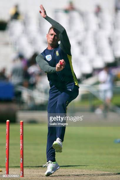 Dale Steyn during the South African national cricket team training session at PPC Newlands on January 02 2018 in Cape Town South Africa