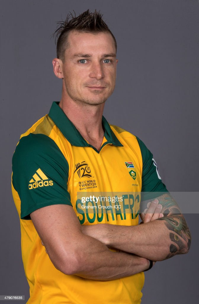Dale Steyn of South Africa at the headshot session at the Pan Pacific Hotel, Dhaka in the lead up to the ICC World Twenty20 Bangladesh 2014 on March 16, 2014 in Dhaka, Bangladesh.