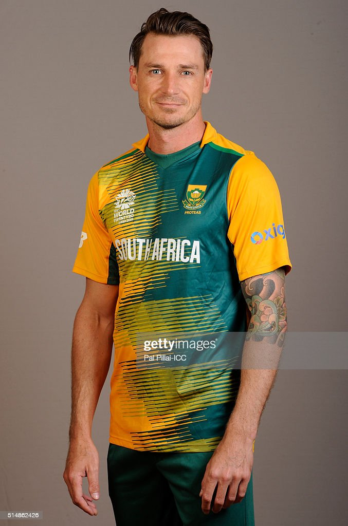 Dale Steyn of South Africa poses during the official photocall for the ICC Twenty20 World on March 11, 2016 in Mumbai, India.