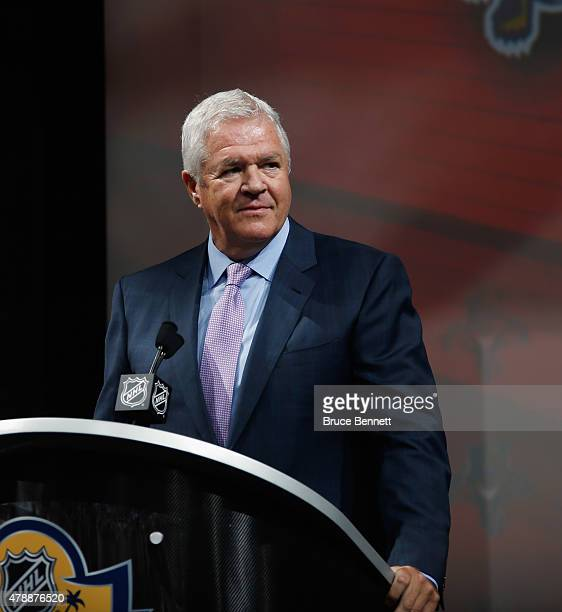 Dale Tallon of the Florida Panthers attends the 2015 NHL Draft at BB&T Center on June 26, 2015 in Sunrise, Florida.