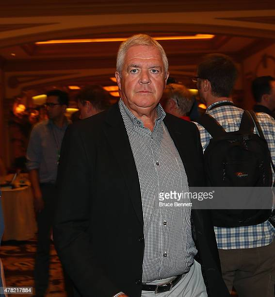 Dale Tallon of the Florida Panthers leaves the NHL general managers meetings at the Bellagio Las Vegas on June 23, 2015 in Las Vegas, Nevada.
