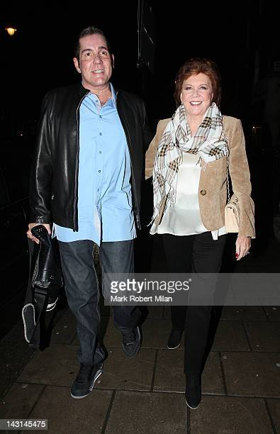 Dale Winton and Cilla Black at 34 restaurant on April 19 2012 in London England