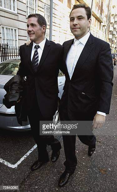 Dale Winton and David Walliams arrive at Home House for the Civil Partnership Ceremony of Matt Lucas and Kevin McGee on December 17 2006 in London...