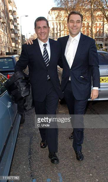 Dale Winton and David Walliams during Matt Lucas and Kevin McGee Civil Partnership Ceremony at Home House in London Great Britain