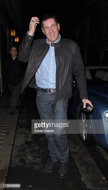 Dale Winton during Celebrity Sightings at the Ivy Restaurant February 27 2007 at Ivy Restaurant in London Great Britain
