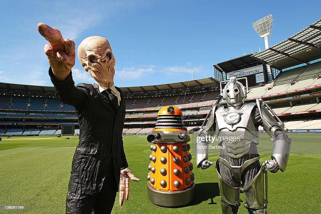 Doctor Who Daleks Prepare For Melbourne Symphony Orchestra Debut : News Photo