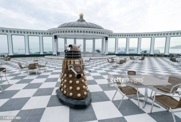 Dalek is brought into Scarborough Spa Complex on the first day of the Scarborough Sci-Fi weekend on April 06, 2019 in Scarborough, England. The North...