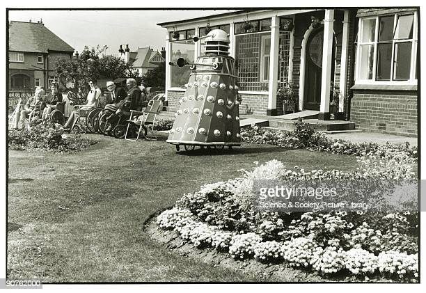 Dalek outside old people's home in Clacton c 1960s Tony RayJones created most of his images of the British at work and leisure between 19661969 He...