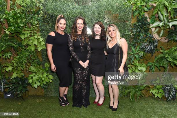 Dalela Place Julia Spillman Alyssa Maltese and Suzie Romeo attend Eklund|Gomes 10 Year Anniversary Bash at The Garage in NYC on February 2 2017 in...