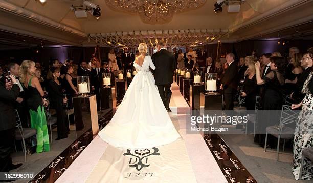 Dalene Kurtis attends Fletcher Jones III And Dalene Kurtis Wedding at Beverly Hills Hotel on March 2 2013 in Beverly Hills California