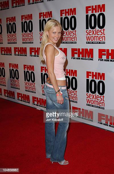 Dalene Kurtis during FHM's 100 Sexiest Women in the World Party CoSponsored by Smirnoff Vodka at Raleigh Studios in Hollywood California United States