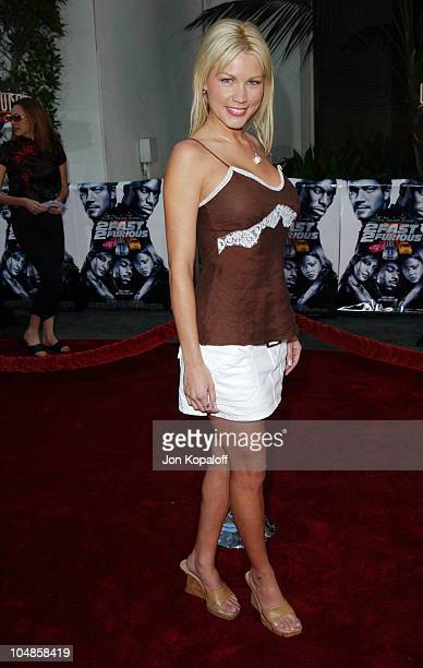 Dalene Kurtis during The World Premiere of 2 Fast 2 Furious at Universal Amphitheatre in Universal City California United States