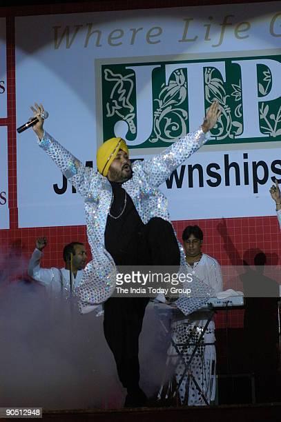 Daler Mehndi Punjabi popsinger performing in New Delhi India