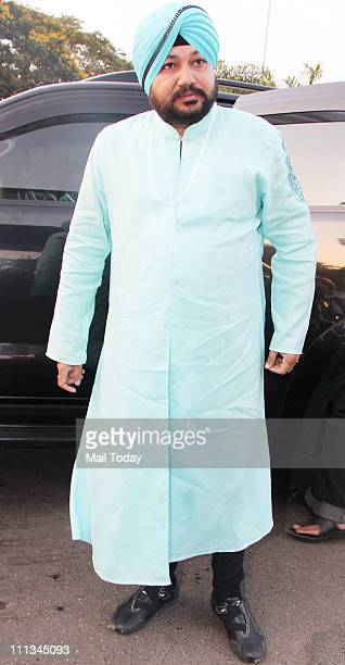 Daler Mehndi spotted leaving for Mohali to watch World Cup semifinal between India and Pakistan