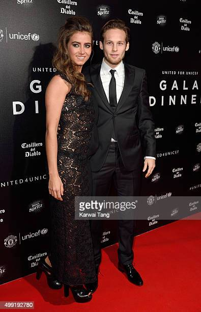 Daley Blind and CandyRae Fleur attend the United for UNICEF Gala Dinner at Old Trafford on November 29 2015 in Manchester England