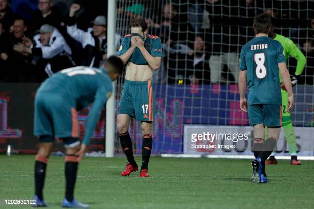 Daley Blind of Ajax during the Dutch Eredivisie match between Heracles Almelo v Ajax at the Polman Stadium on February 23, 2020 in Almelo Netherlands