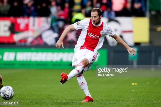Daley Blind of Ajax during the Dutch Eredivisie match between Fortuna Sittard and Ajax at Fortuna Sittard Stadion on September 21, 2021 in Sittard,...