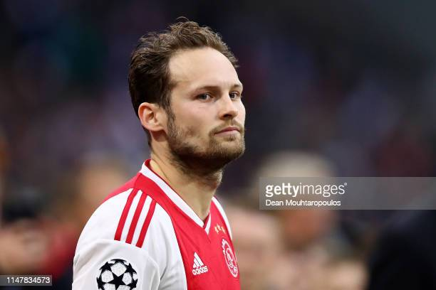 Daley Blind of Ajax walks out prior to the UEFA Champions League Semi Final second leg match between Ajax and Tottenham Hotspur at the Johan Cruyff...