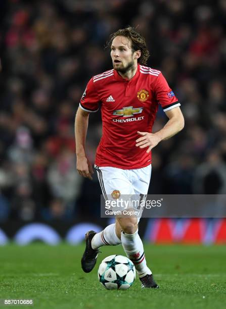 Daley Blind of Manchester United during the UEFA Champions League group A match between Manchester United and CSKA Moskva at Old Trafford on December...
