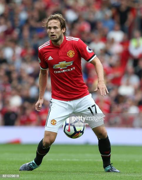 Daley Blind of Manchester United in action during the Premier League match between Manchester United and West Ham United at Old Trafford on August 13...