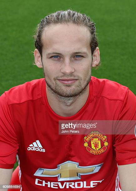 Daley Blind of Manchester United poses for a portrait at the Manchester United Official Photocall on September 19 2016 in Manchester England
