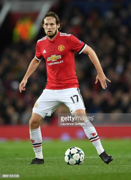 Daley Blind of Manchester United runs with the ball during the UEFA Champions League group A match between Manchester United and CSKA Moskva at Old...