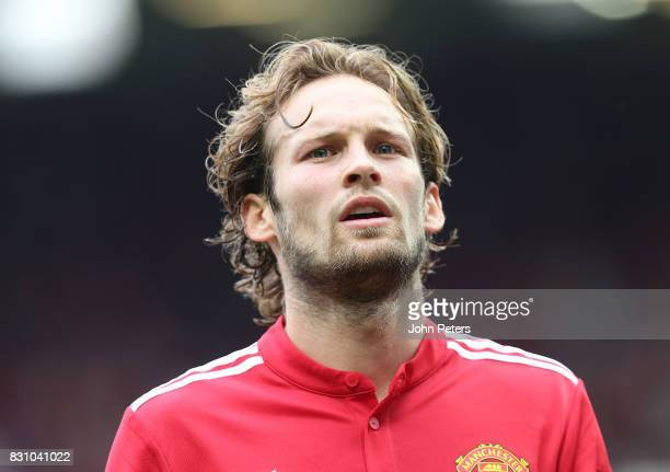 Daley Blind of Manchester United walks off at halftime during the Premier League match between Manchester United and West Ham United at Old Trafford...