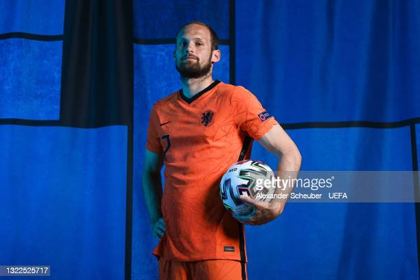 Daley Blind of the Netherlands poses during the official UEFA Euro 2020 media access day on June 07, 2021 in Zeist, Netherlands.