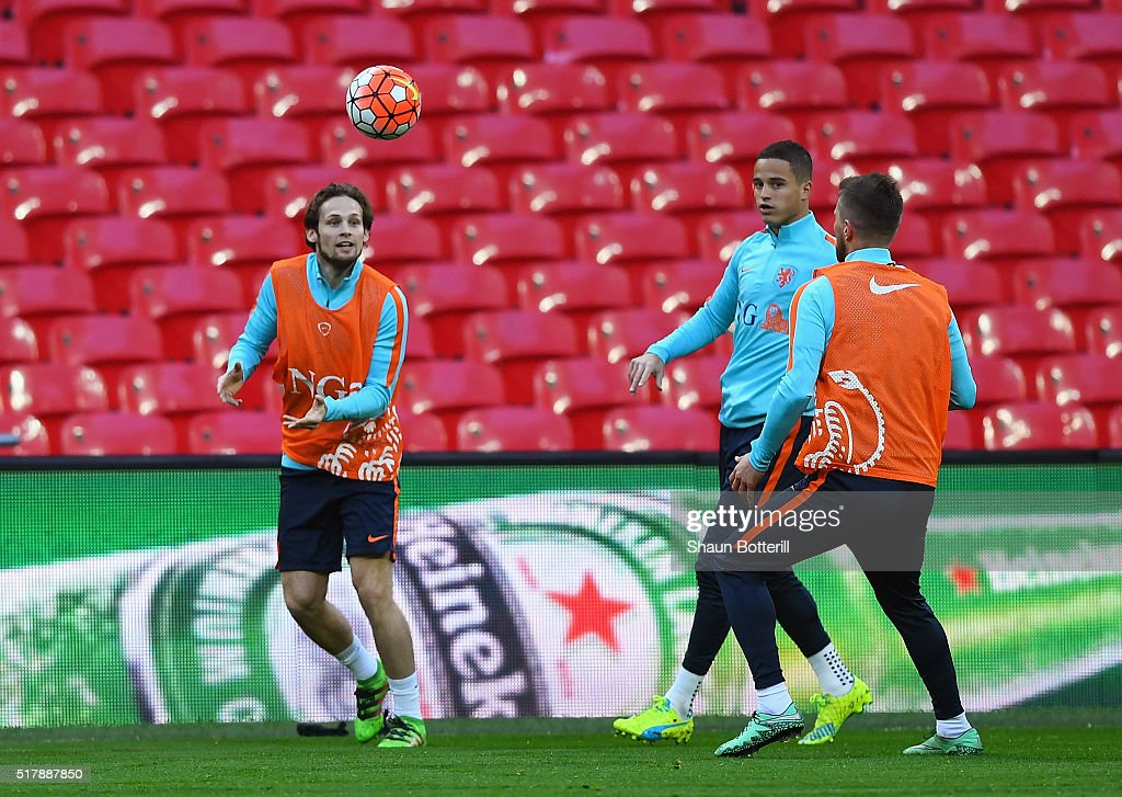 Netherlands Training Session and Press Conference : News Photo