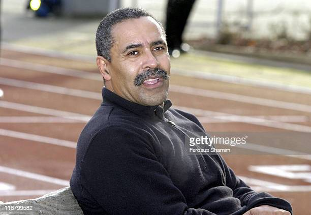 Daley Thompson at Barnardo's London Marathon Training Session at Battersea Park in London Great Britain on January 22 2005