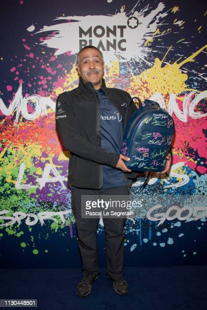Daley Thompson attends Montblanc X Laureus Sport For Good photocall at Hotel Hermitage during 2019 Laureus World Sports Awards on February 17 2019 in...