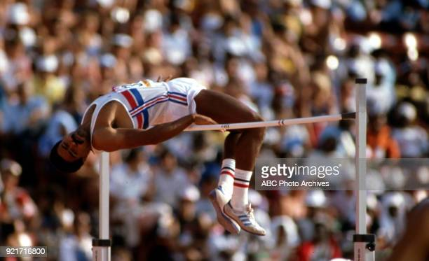 Daley Thompson Men's decathlon high jump competition Memorial Coliseum at the 1984 Summer Olympics August 8 1984