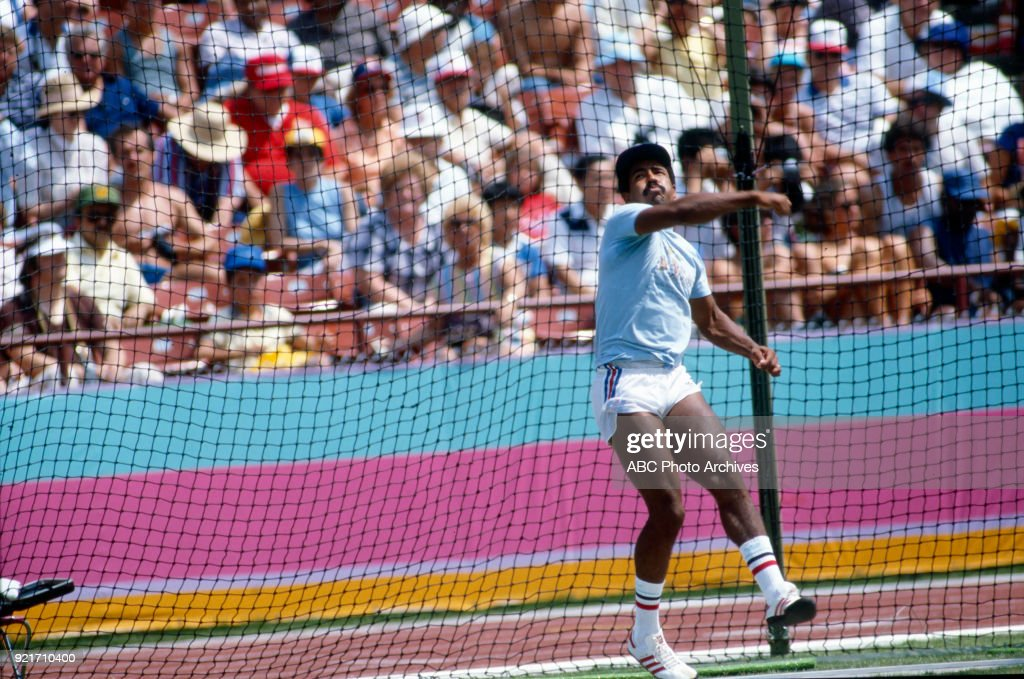 Men's Decathlon Javelin Throw Competition At The 1984 Summer Olympics : Foto di attualità