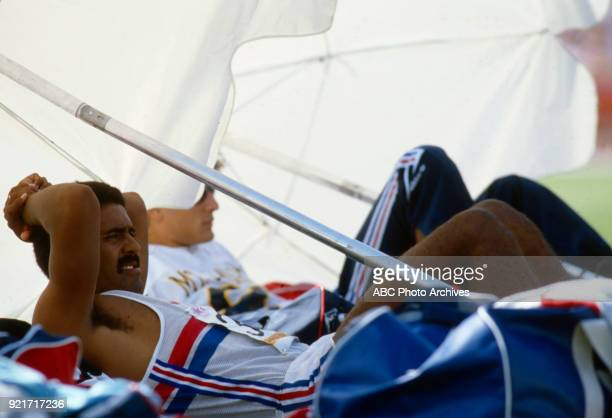 Daley Thompson Men's decathlon pole vault competition Memorial Coliseum at the 1984 Summer Olympics August 8 1984