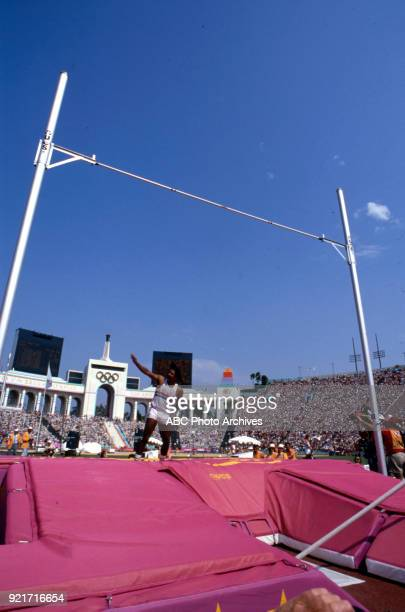 Daley Thompson Men's pole vault decathlon competition Memorial Coliseum at the 1984 Summer Olympics August 8 1984