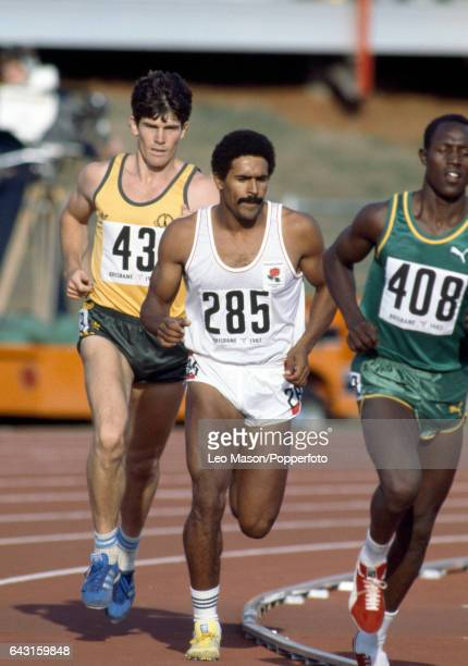 Daley Thompson of England enroute to winning the decathlon event during the Commonwealth Games in Brisbane Australia circa October 1982