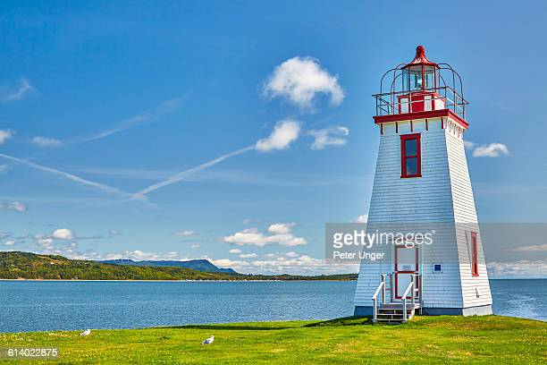 dalhousie lighthouse,new brunswick - new brunswick canada stock pictures, royalty-free photos & images