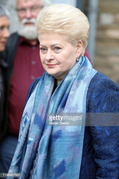 Dalia Grybauskaite at the International Charlemagne Prize of Aachen 2019 , awarded to Secretary General of the United Nations António Guterres on May...
