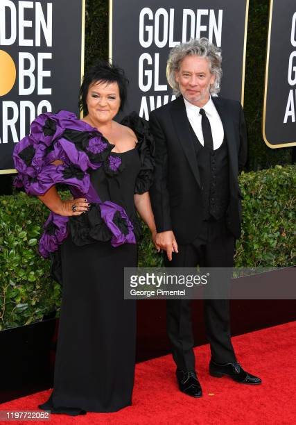 Dalia Ibelhauptaite and Dexter Fletcher attend the 77th Annual Golden Globe Awards at The Beverly Hilton Hotel on January 05, 2020 in Beverly Hills,...