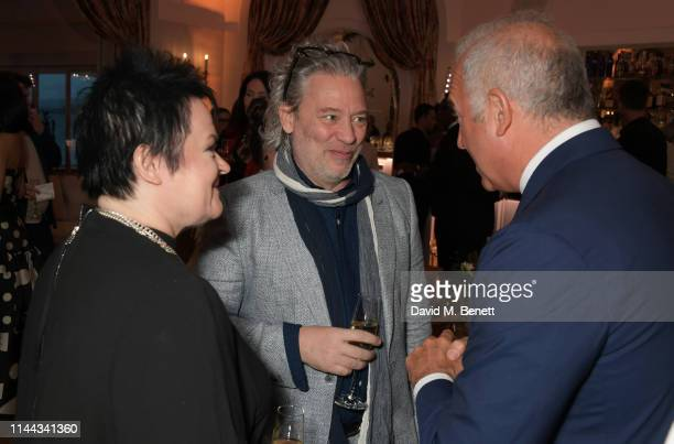 Dalia Ibelhauptaite Dexter Fletcher and CEO of Finch Partners Charles Finch attend the 10th Annual Filmmakers Dinner hosted by Charles Finch Edward...
