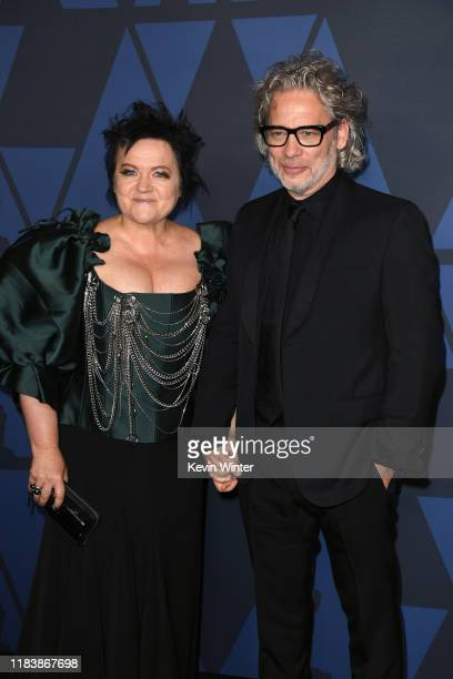 Dalia Ivelhauptaite and Dexter Fletcher attend the Academy Of Motion Picture Arts And Sciences' 11th Annual Governors Awards at The Ray Dolby...