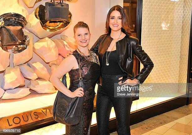Dalia Rawson Managing Director Silicon Valley Ballett and model Agatha Relota Luczo attend the Cocktails Couture luxury event at Westfield Valley...