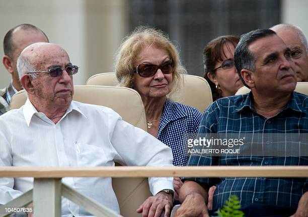 Dalia Soto del Valle wife of former Cuban President Fidel Castro participates September 28 2010 in Havana in a meeting for the 50th Anniversary of...